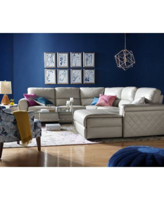 justin ii fabric reclining sectional sofa outdoor furniture closeout jessi leather power collection created for macy s