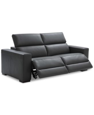 modern power reclining sofa leather bed restoration hardware nevio 82