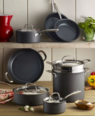 kitchen essentials from calphalon home depot trash cans lagostina nera nonstick 12-pc. cookware set, created for ...