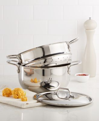 steamer kitchen aid paddle attachment all clad stainless steel 5 qt covered multi pot with insert main image