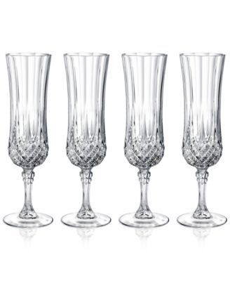 Cristal DArques Longchamp Set of 4 Flutes  Glassware