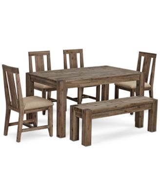 kitchen table set with bench work furniture canyon small 6 pc dining 60 4 side main image