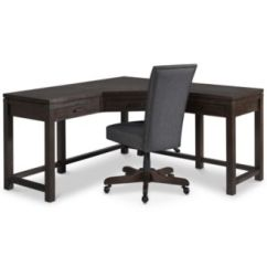 Home Office Desk Chairs Linen Dining Chair Covers Furniture Closeout Hendrik Collection 2 Pc Set Corner Created For Macy S