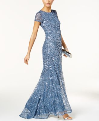Adrianna Papell Beaded Ombr Gown  Dresses  Women  Macys