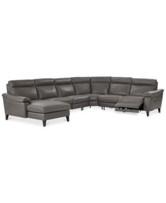 beaumont sofa bjs set designs in kerala leather furniture macy s pirello ii 6 pc sectional with chaise 1 power recliner