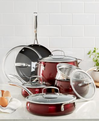 macy's kitchen sets craigslist cabinets belgique aluminum 11 pc cookware set created for macy s main image