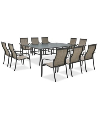 outdoor aluminum chairs small corner chair furniture reyna 11 pc dining set 84 x 60 main image