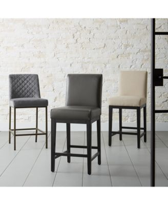 macy stool chair grey back pillow for furniture cambridge velvet 4 pc set counter stools