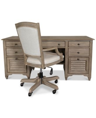 desk chair york zebra saucer furniture home office 2 pc set credenza main image