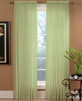 Miller Curtains Sheer Preston Rod Pocket 51 x 84 Panel
