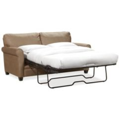 Kaleigh Fabric Queen Sleeper Sofa Bed Full Air Dream Replacement Mattress Furniture - Macy's