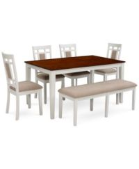 Delran White Dining Room Furniture - Furniture - Macy's