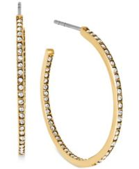 Michael Kors Crystal Pav Small Hoop Earrings