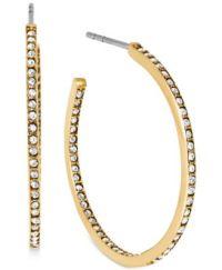 Michael Kors Crystal Pav Small Hoop Earrings