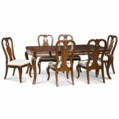 Dining Room Sets 6 Chairs Portable Reading Chair Furniture Bordeaux 7 Pc Set Created For Macy S Table Queen Anne Side