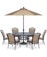 "Beachmont II Outdoor 7-Pc. Dining Set (60"" Round Table,and ..."