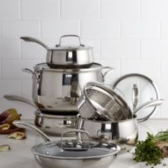Macy's Kitchen Sets Table With 4 Chairs Belgique Stainless Steel 11 Pc Cookware Set Nonstick Saute Pan Main Image