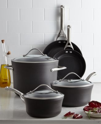 kitchen essentials by calphalon affordable remodel contemporary nonstick 8-pc. cookware set ...