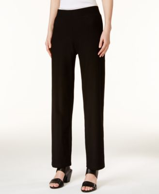 Washable crepe straight leg pants regular  petite also eileen fisher rh macys