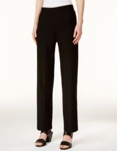 Eileen fisher washable crepe straight leg pants regular  petite sweaters petites macy  also rh macys