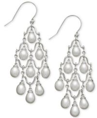 Cultured Freshwater Pearl Chandelier Earrings in Sterling ...