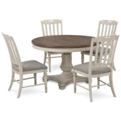 Round Table And Chairs Sewing Machine Kitchen Dining Room Sets Macy S Barclay Expandable Pedestal 5 Pc Set
