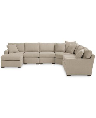 macy s sectional sofa wing innovation furniture radley fabric 6 piece chaise created for