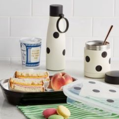 Kate Spade Kitchen Tables And More New York Lunch On The Go Collection Gadgets Bring A Sophisticated Touch To Bagged With This From Choose Insulated Bottles Versatile Box