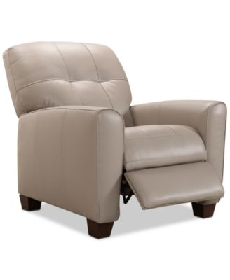 accent chair recliner infinity massage reviews chairs and recliners macy s kaleb tufted leather created for