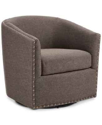 swivel club chair lj events covers chairs macy s arman quick ship