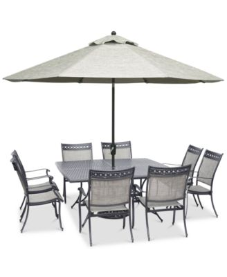 outdoor aluminum chairs dental for sale furniture vintage ii 9 pc dining set 64 square 4 799 00