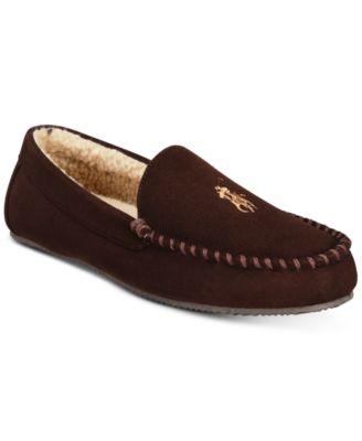 Polo ralph lauren men   dezi micro suede slippers also macy rh macys