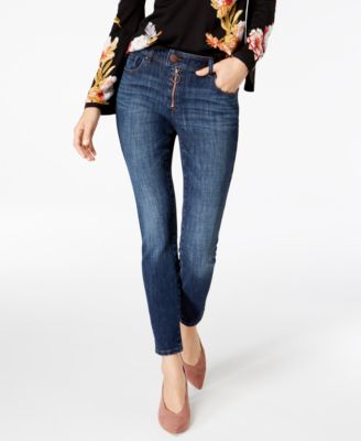 exposed zipper skinny jeans created for macy   also womens inc international concepts clothing rh macys