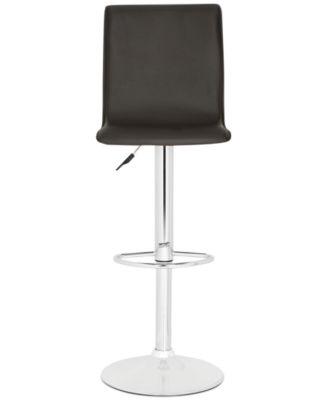 macy stool chair grey kids haircut safavieh hydro adjustable bar quick ship furniture s main image