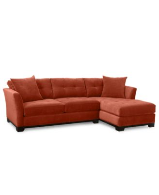 macy s elliot sofa bed red color 2-piece chaise sectional sofa: custom colors ...