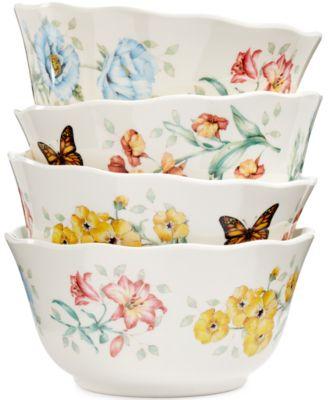 Lenox Butterfly Meadow Set of 4 Melamine All Purpose Bowls