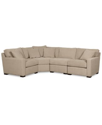 macy s sectional sofa gray fabric set furniture radley collection created for 4 piece