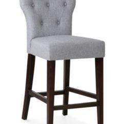 Macy Stool Chair Grey Button Tufted Bar Stools Counter S Dan Quick Ship