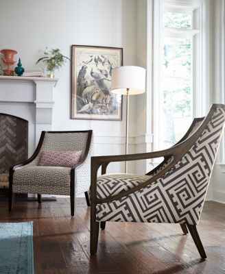 fabric accent chairs living room ceiling designs for 2016 furniture landor printed chair macy s