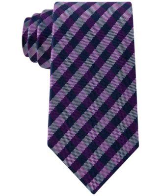 Club Room Men's Gingham Tie, Only At Macy's  Ties