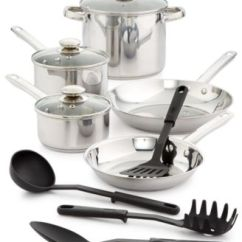 Macy's Kitchen Sets Cleaning Wood Cabinets Bella 12 Pc Stainless Steel Cookware Set Main Image