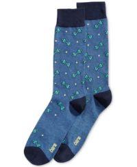 Bar III Men's Patterned Indigo Bowties Dress Socks, Only ...