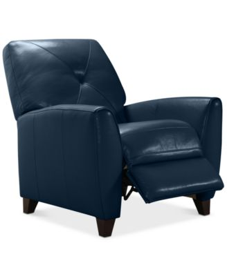 push back chair led table and chairs furniture myia leather pushback recliner created for macy s