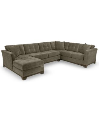 microfiber fabric sofa recliner sets online india furniture closeout elliot 3 piece chaise sectional created for macy s