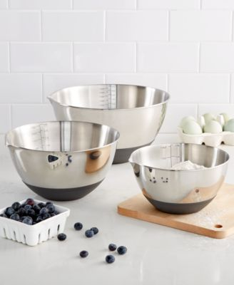 macy's kitchen sets organization ideas martha stewart collection set of 3 non skid mixing bowls with main image