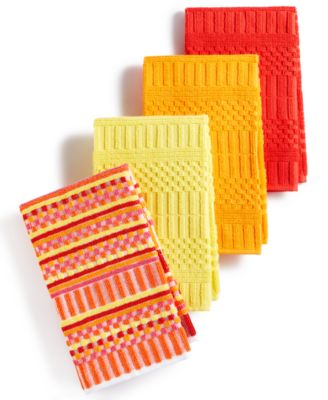 fiesta kitchen moroccan tile backsplash towels set of 4 alexa warm bar mops linens main image