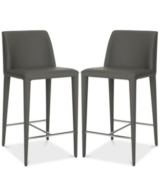 macy stool chair grey louis xv chairs safavieh erin counter set of 2 quick ship furniture s main image