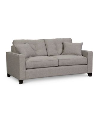 clarke fabric queen sleeper sofa bed modern sectional white furniture ii 93 created for
