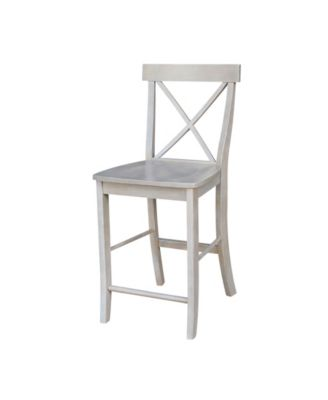 macy stool chair grey spindle dining chairs international concepts x back counterheight 24 seat height main image