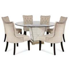 Dining Table Set 6 Chairs Bathtub Lift Chair Furniture Marais Room 7 Piece 60 Mirrored
